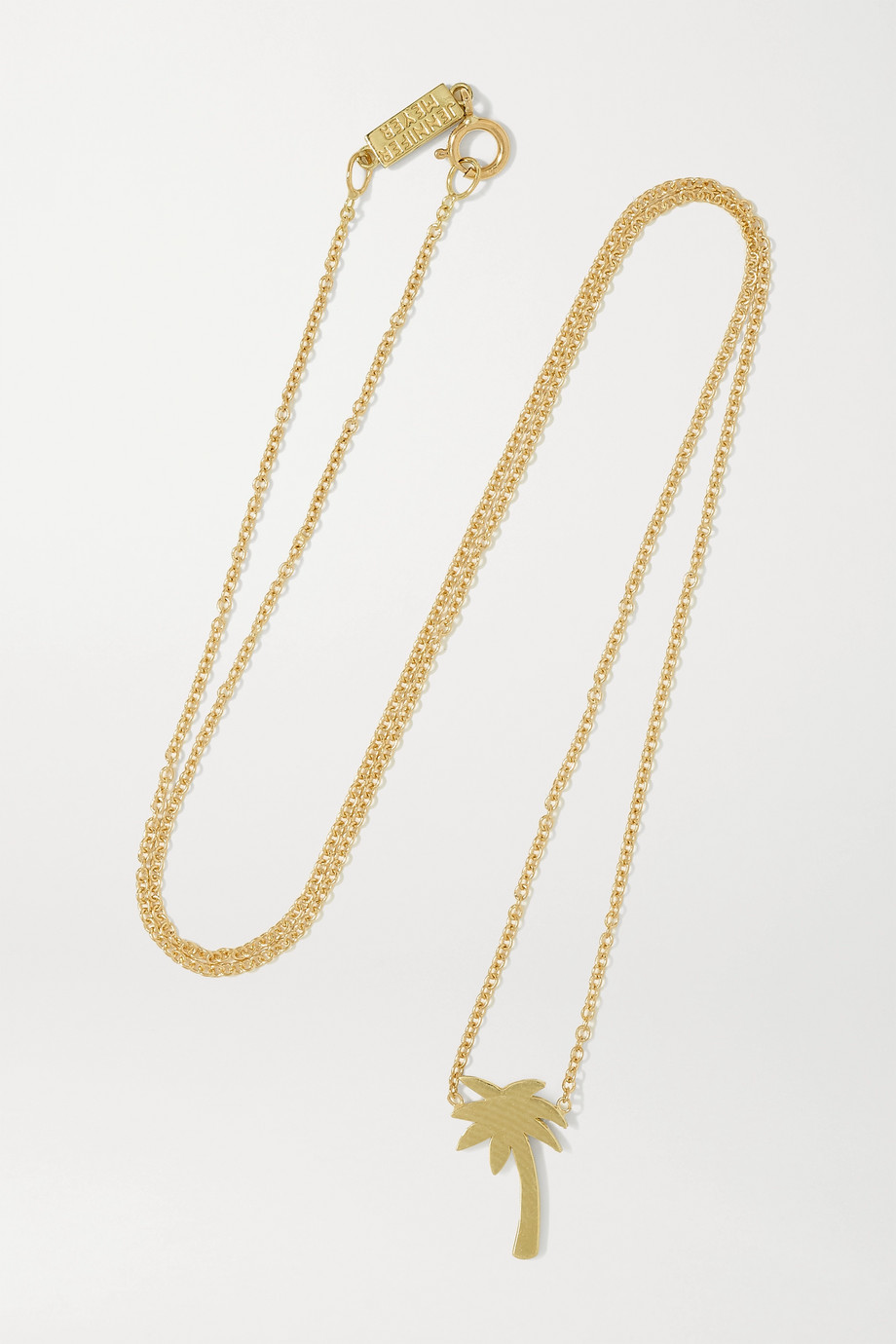 JENNIFER MEYER Mini Palm Tree 18-karat gold necklace
