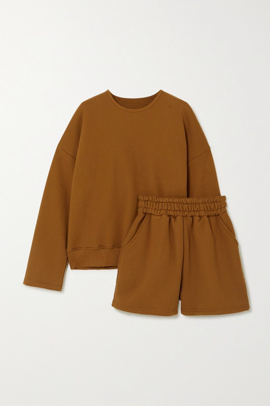 FRANKIE SHOP Jamie cotton-jersey sweatshirt and shorts set
