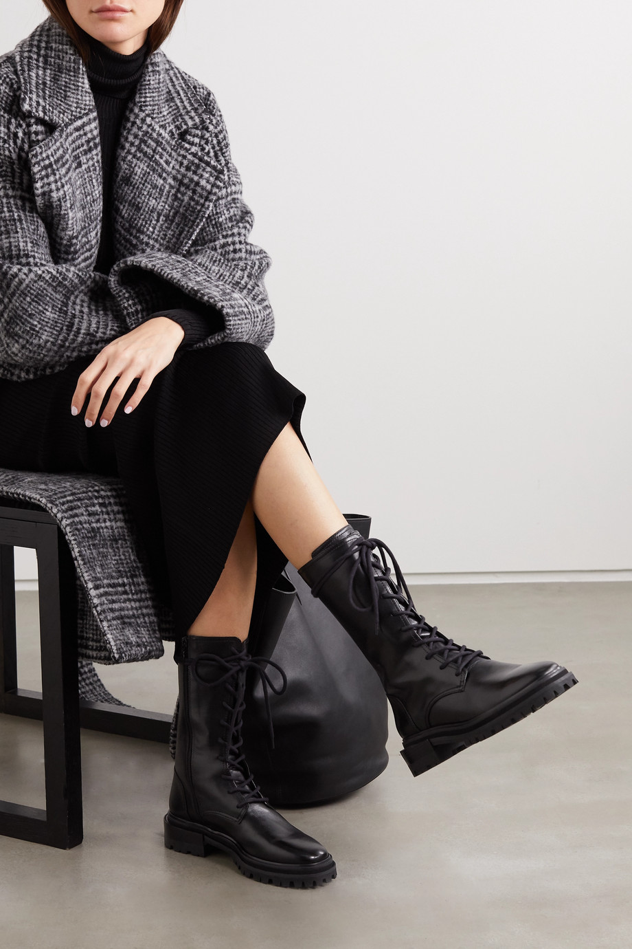 PORTE & PAIRE Leather boots