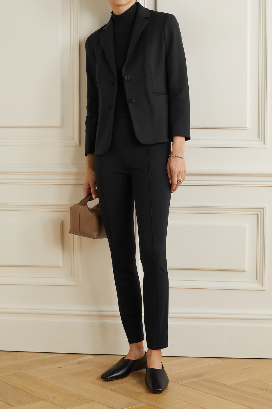THE ROW Brentwood stretch-ponte blazer