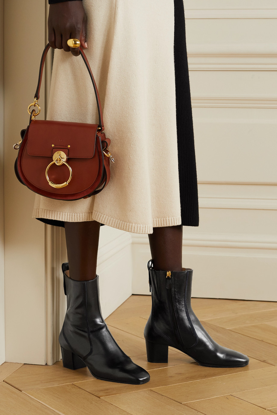CHLOÉ Goldee leather ankle boots