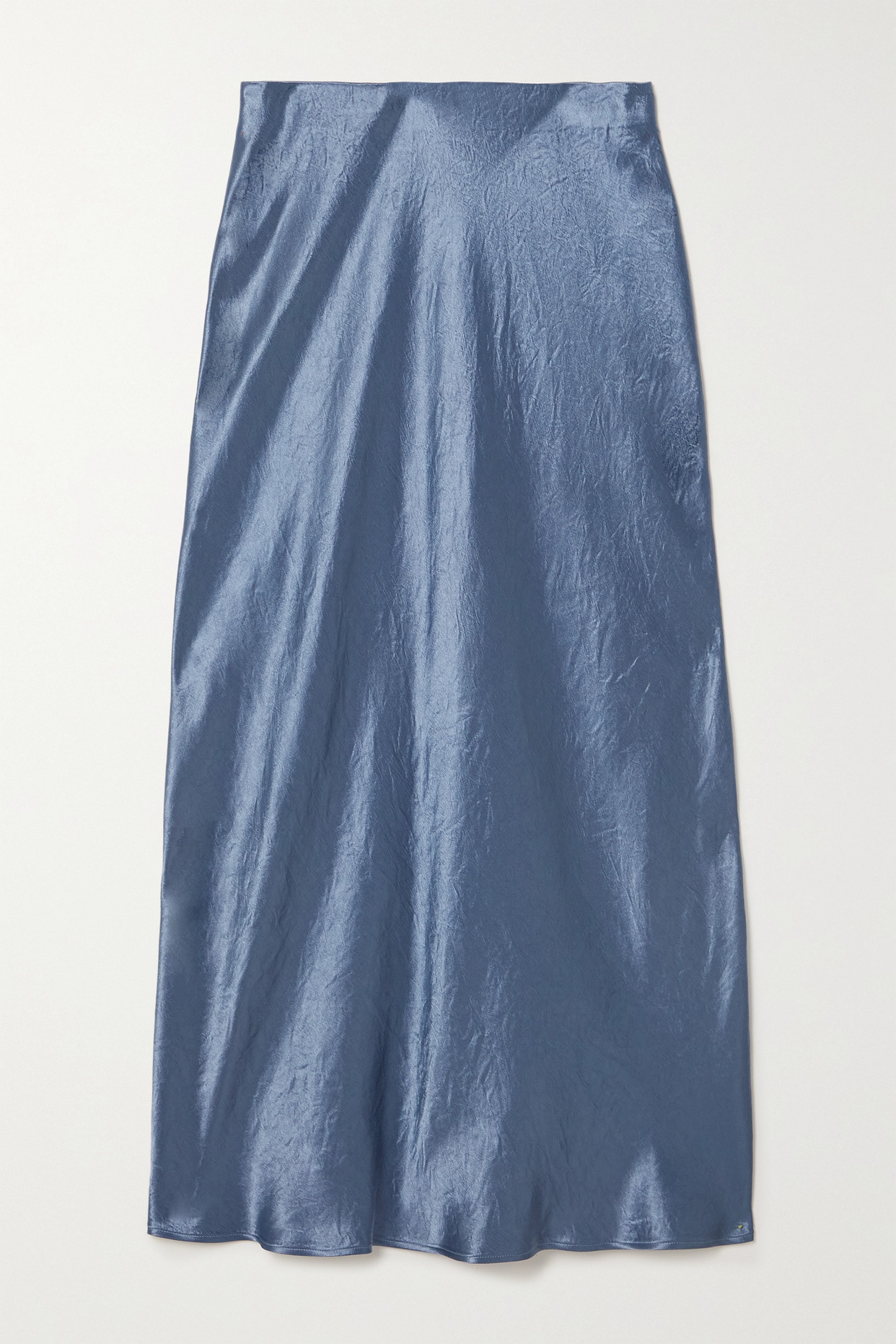 MAX MARA - + Leisure Alessio Washed-satin Midi Skirt - Blue - UK2