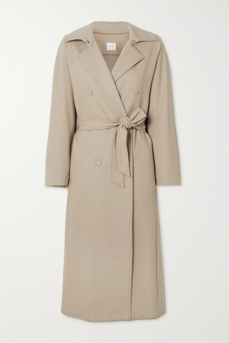 MAX MARA + Leisure Cinghia belted double-breasted jersey trench coat
