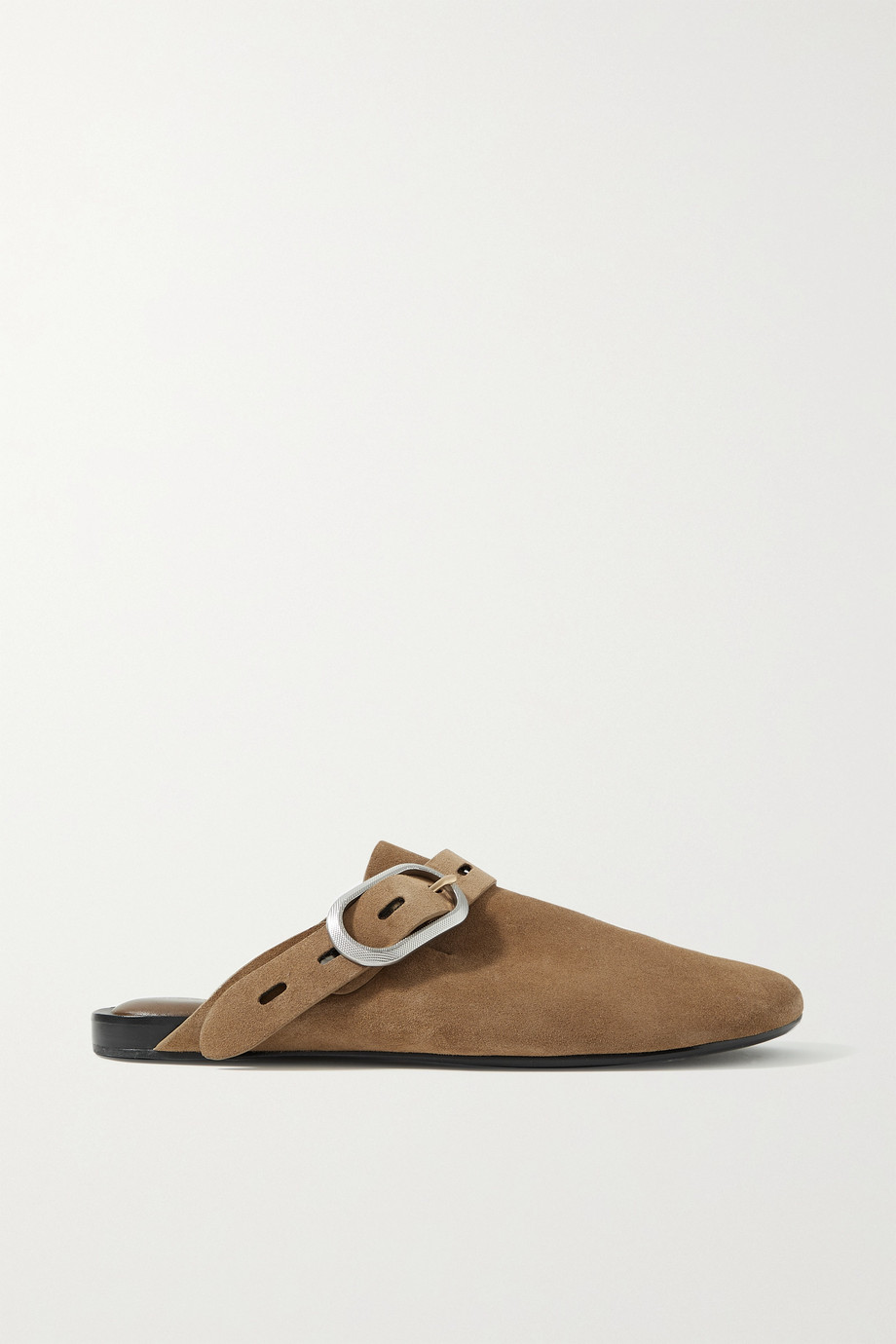 RAG & BONE Ansley buckled suede slippers