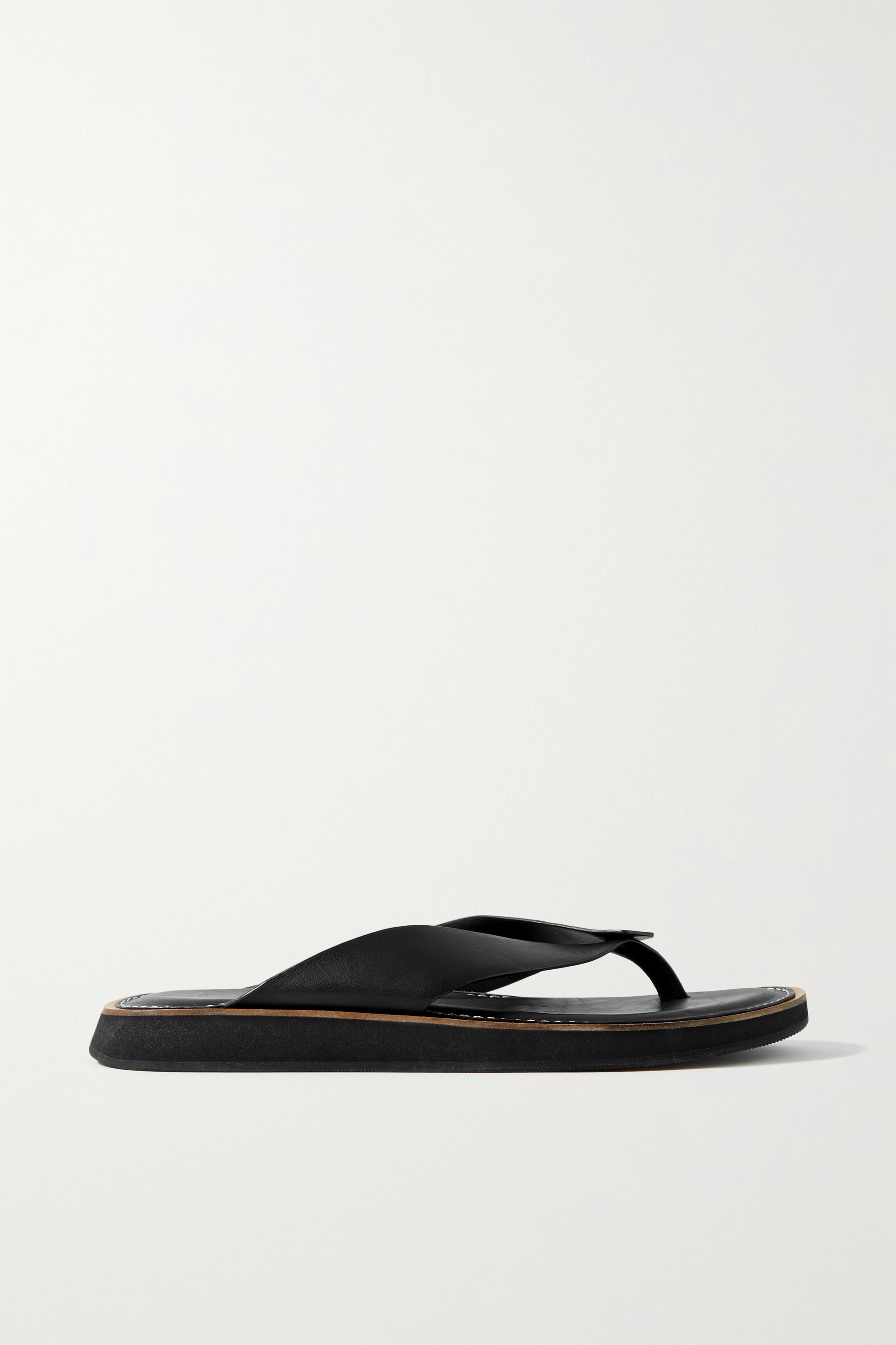 RAG & BONE Parker leather platform flip flops