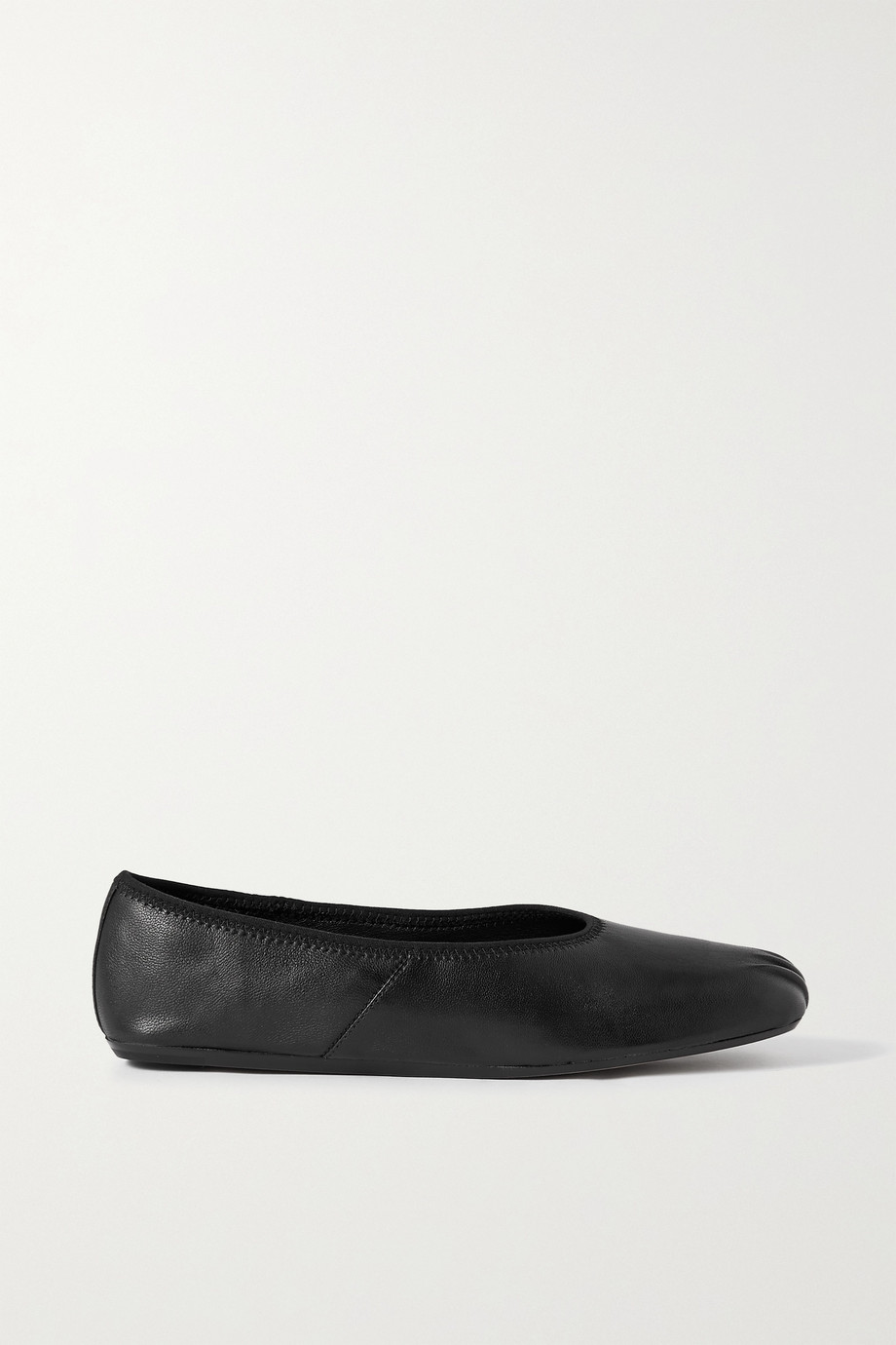 VINCE Kiana gathered leather ballet flats