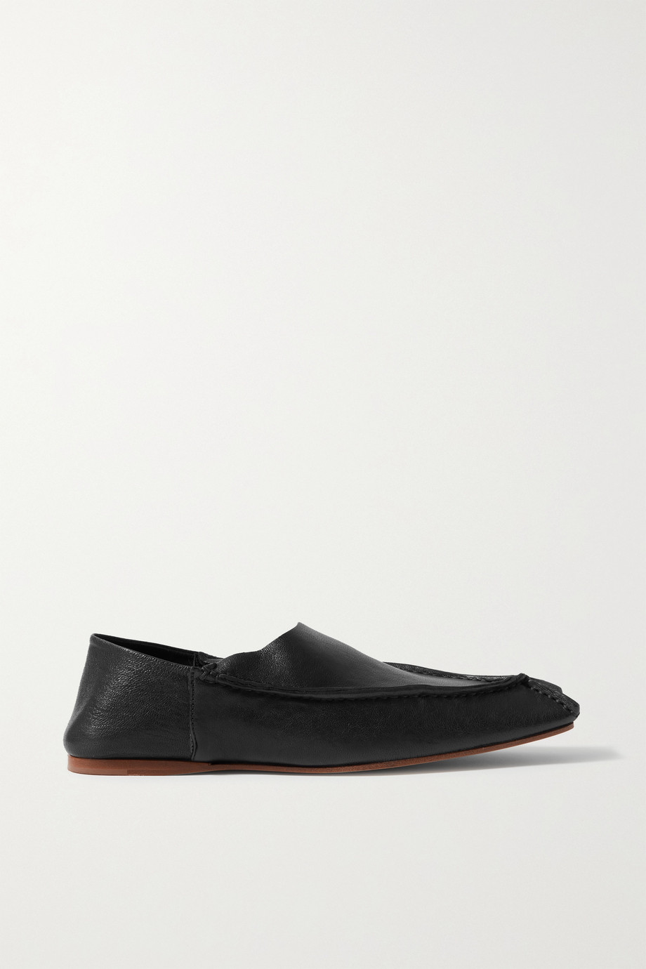 ACNE STUDIOS Leather collapsible-heel loafers