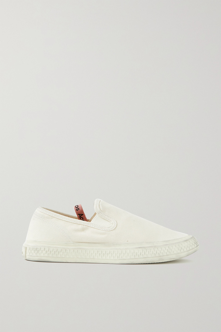 ACNE STUDIOS Distressed canvas slip-on sneakers