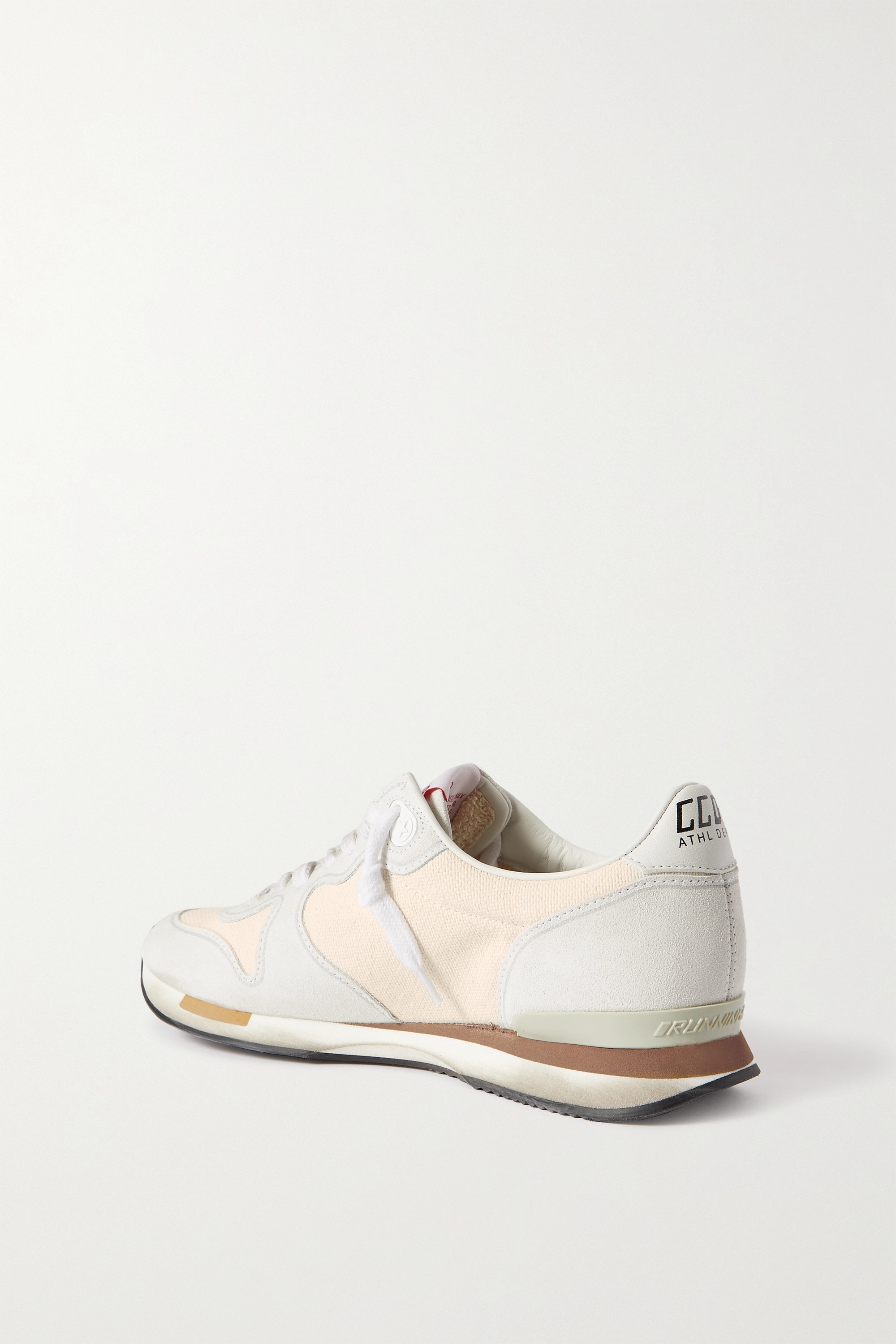 GOLDEN GOOSE Suede and canvas sneakers