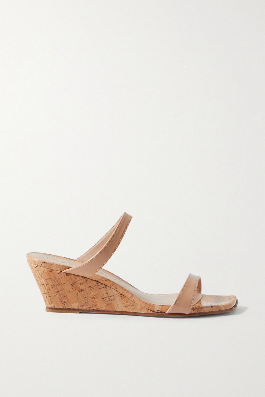 STUART WEITZMAN Aleena patent-leather wedge sandals