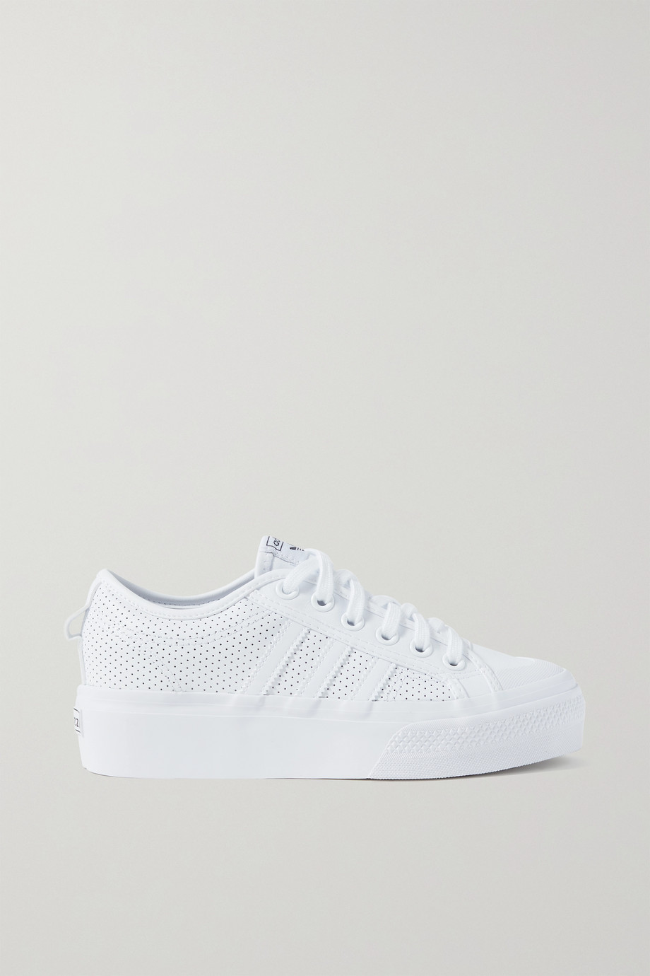 ADIDAS ORIGINALS Nizza perforated leather sneakers