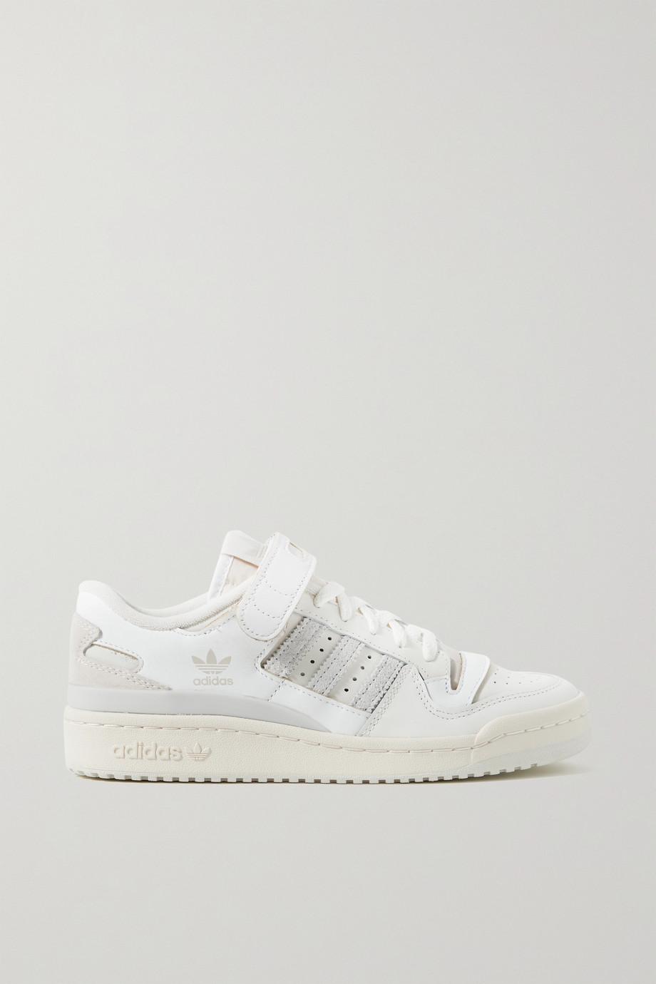 ADIDAS ORIGINALS Forum 84 suede-trimmed leather sneakers