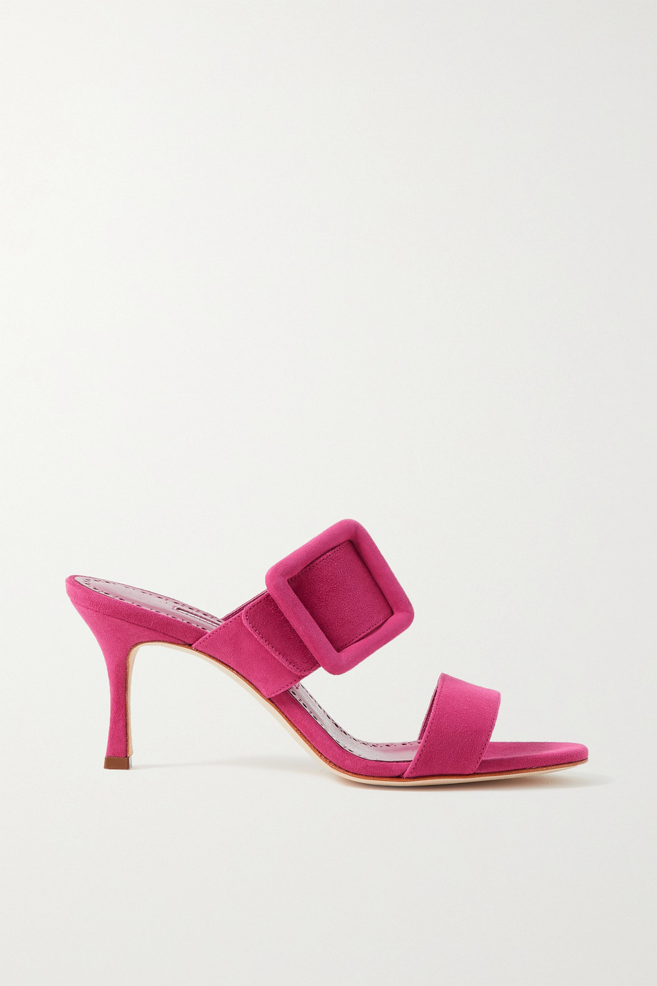 MANOLO BLAHNIK Gable buckled suede mules