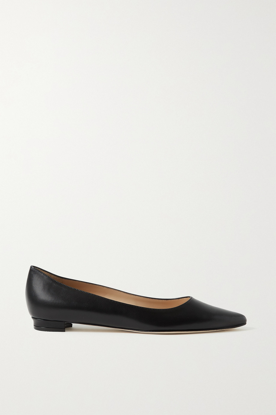 MANOLO BLAHNIK Titto leather point-toe flats