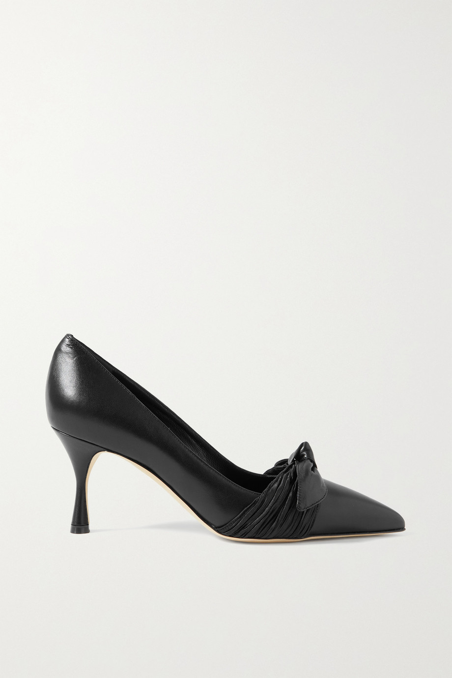 MANOLO BLAHNIK Papaita bow-detailed leather pumps