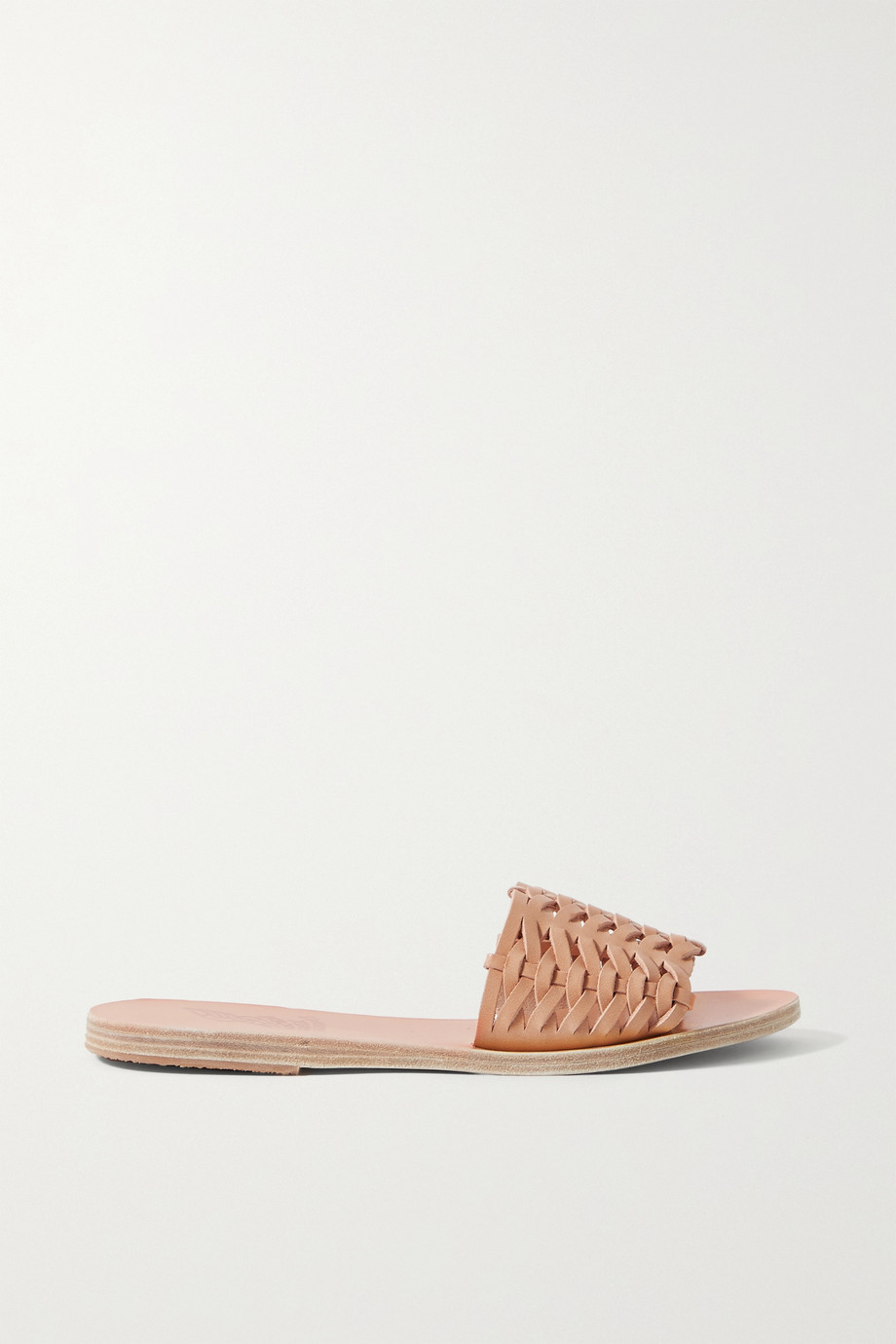 ANCIENT GREEK SANDALS Taygete woven leather slides