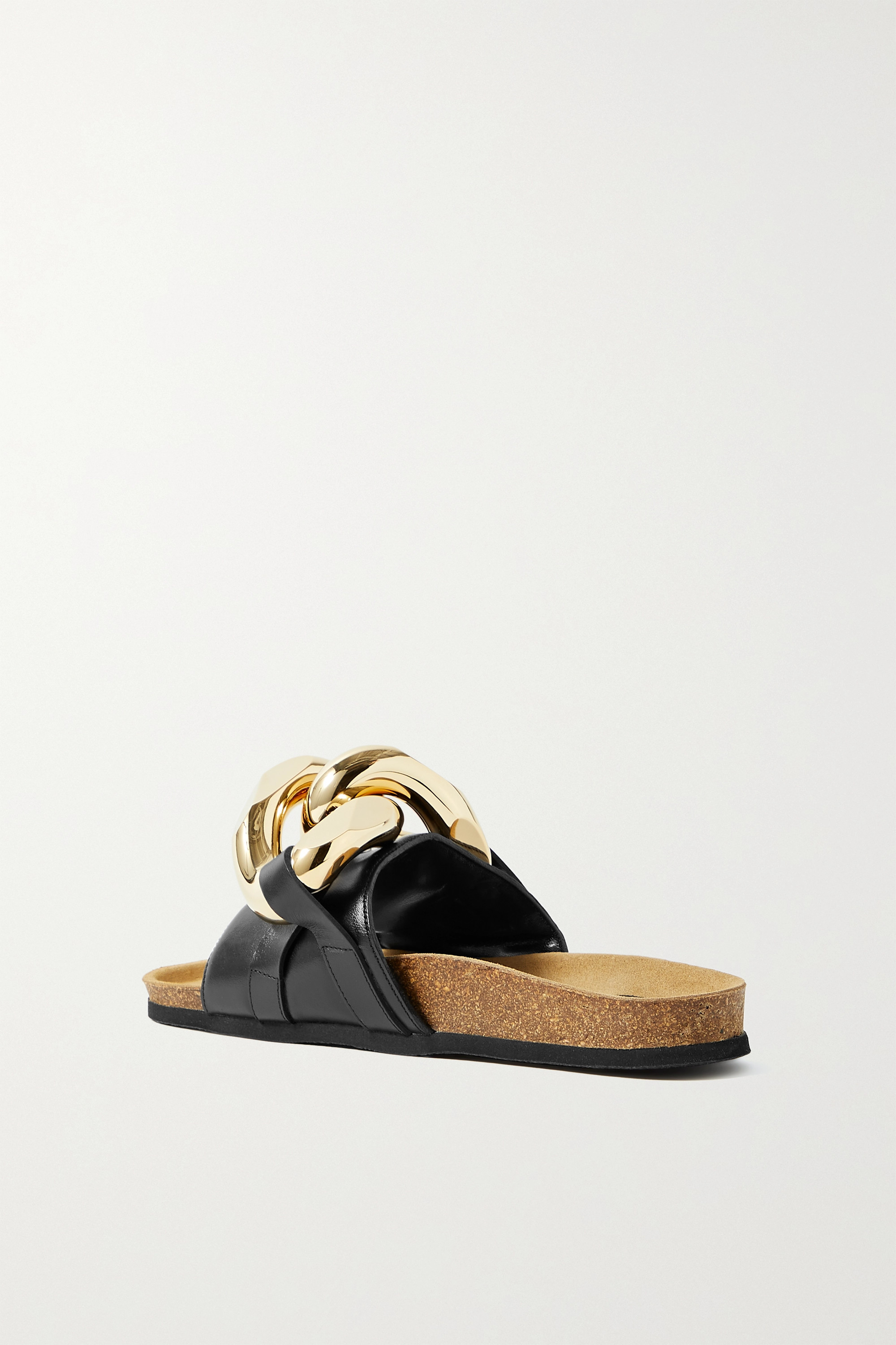 JW ANDERSON Chain-embellished leather slides