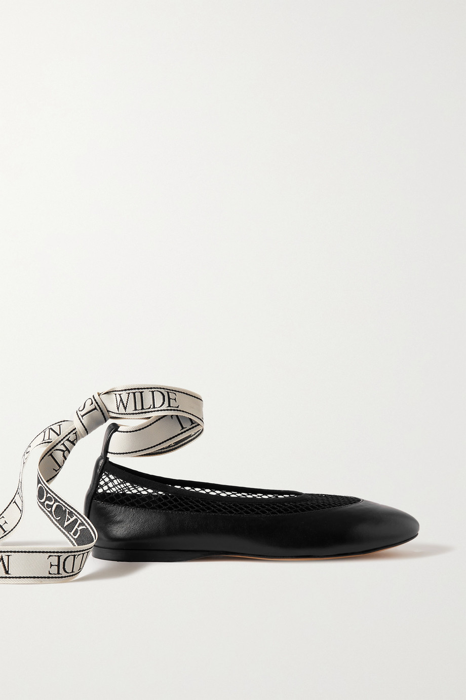 JW ANDERSON Leather, mesh and canvas ballet flats