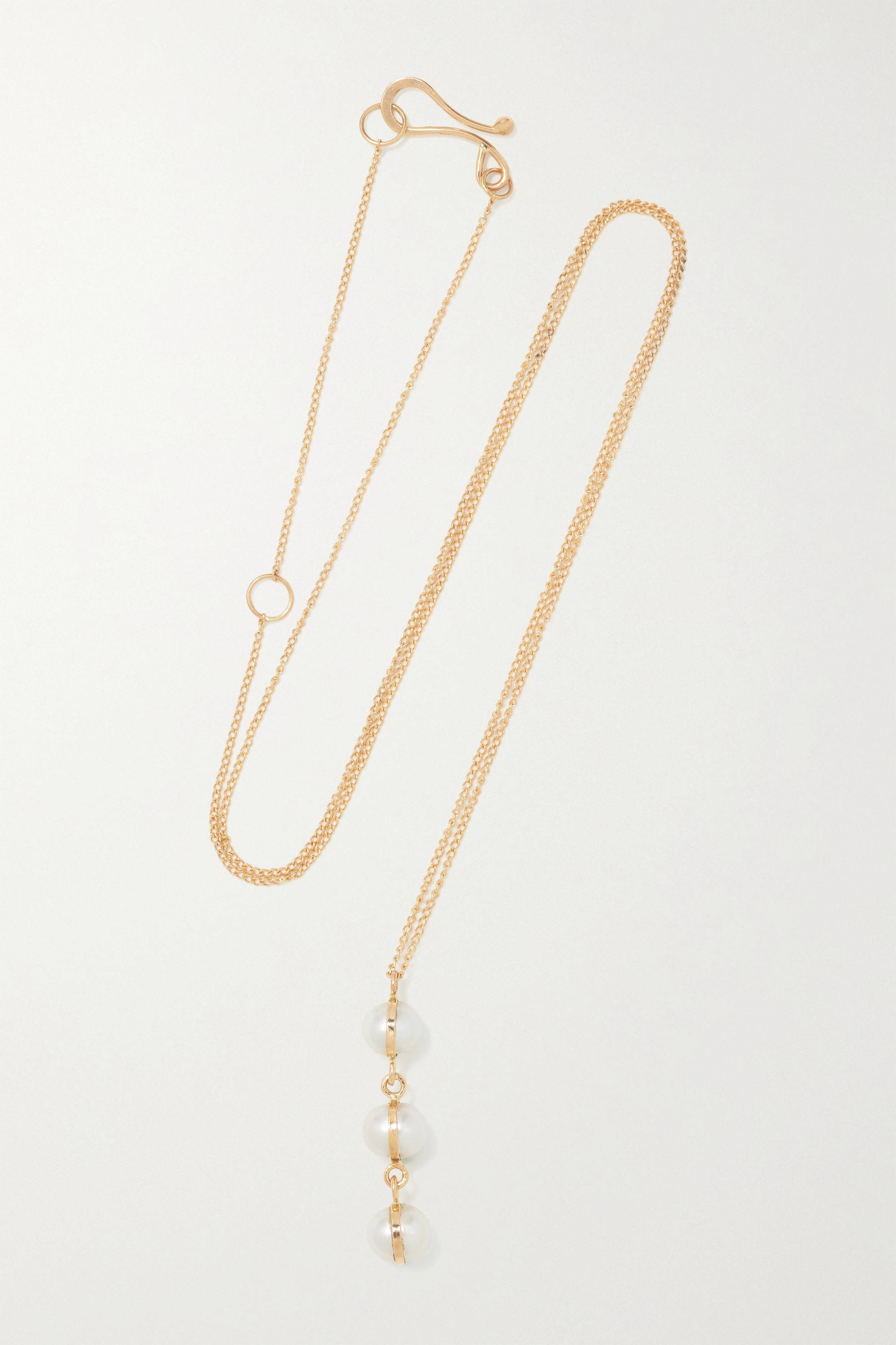 MELISSA JOY MANNING 14-karat recycled gold pearl necklace