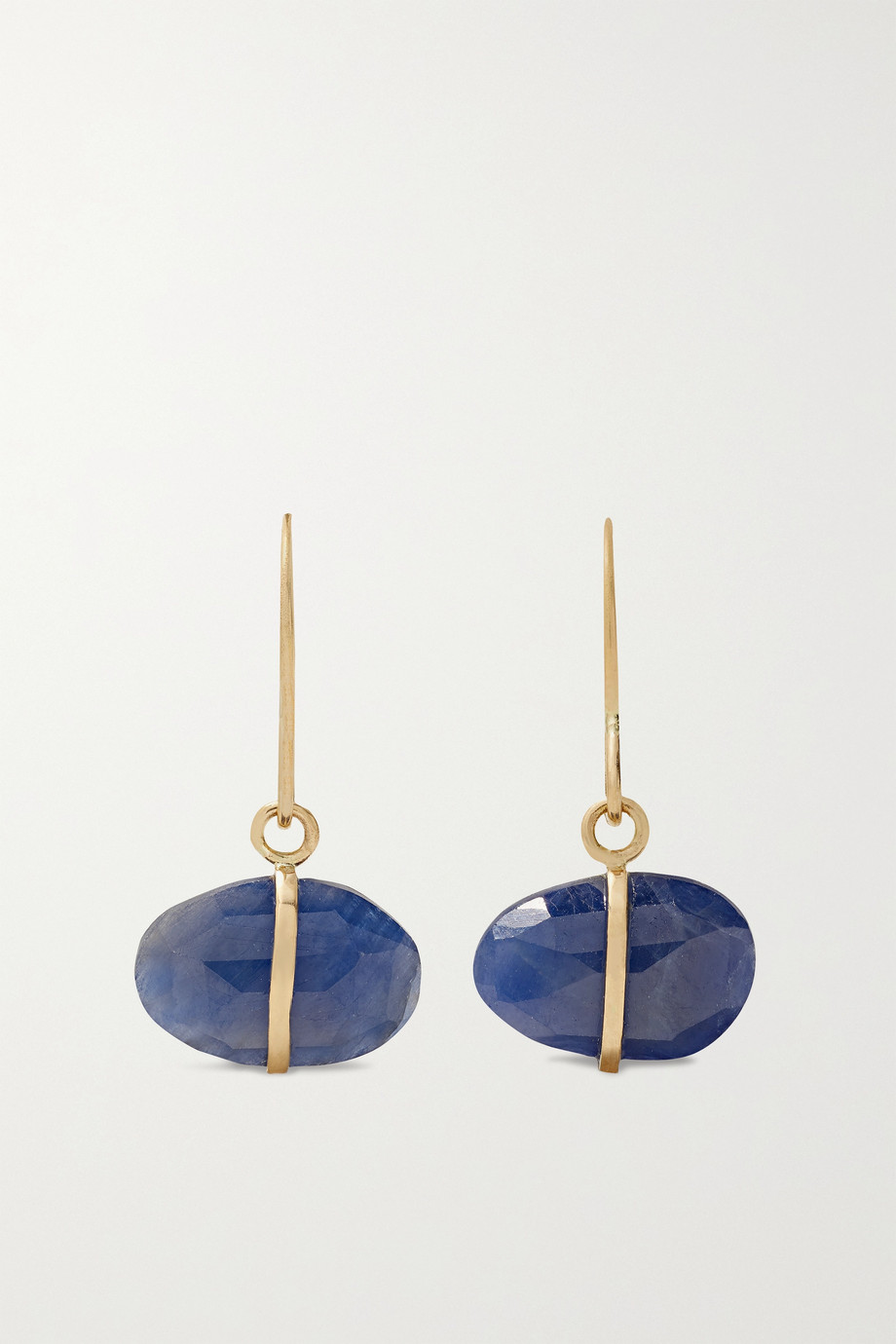 MELISSA JOY MANNING 14-karat recycled gold sapphire earrings