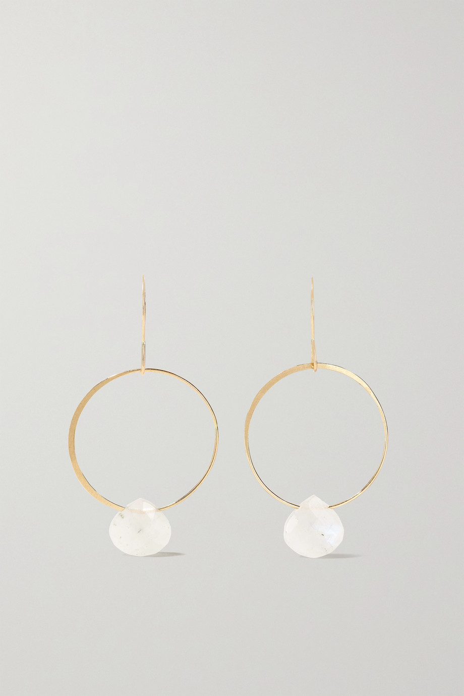MELISSA JOY MANNING 14-karat recycled gold moonstone earrings