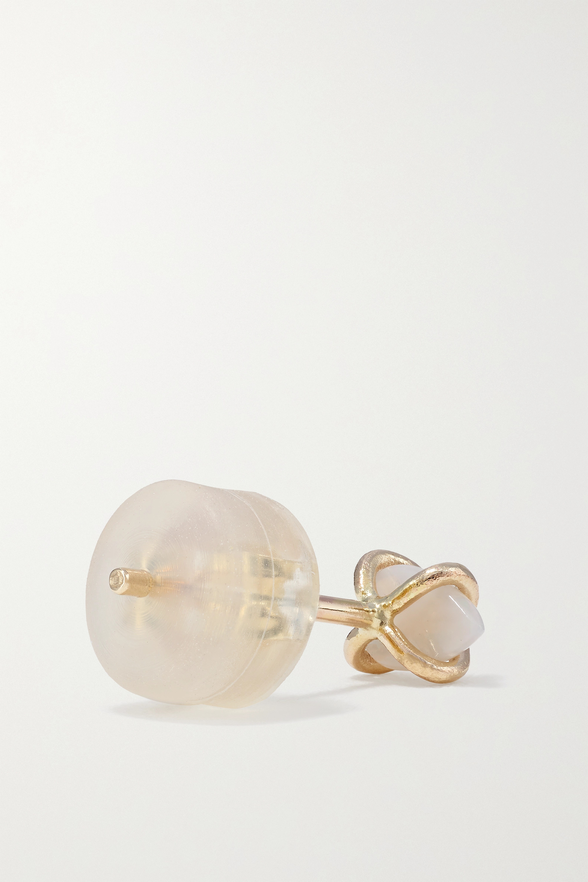 MELISSA JOY MANNING 14-karat recycled gold opal earrings