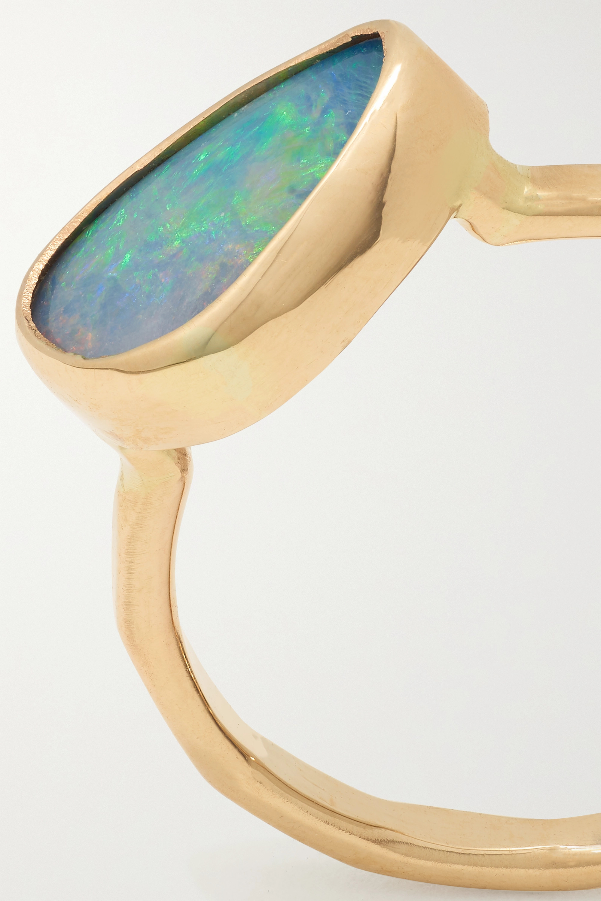 MELISSA JOY MANNING 14-karat recycled gold opal doublet ring