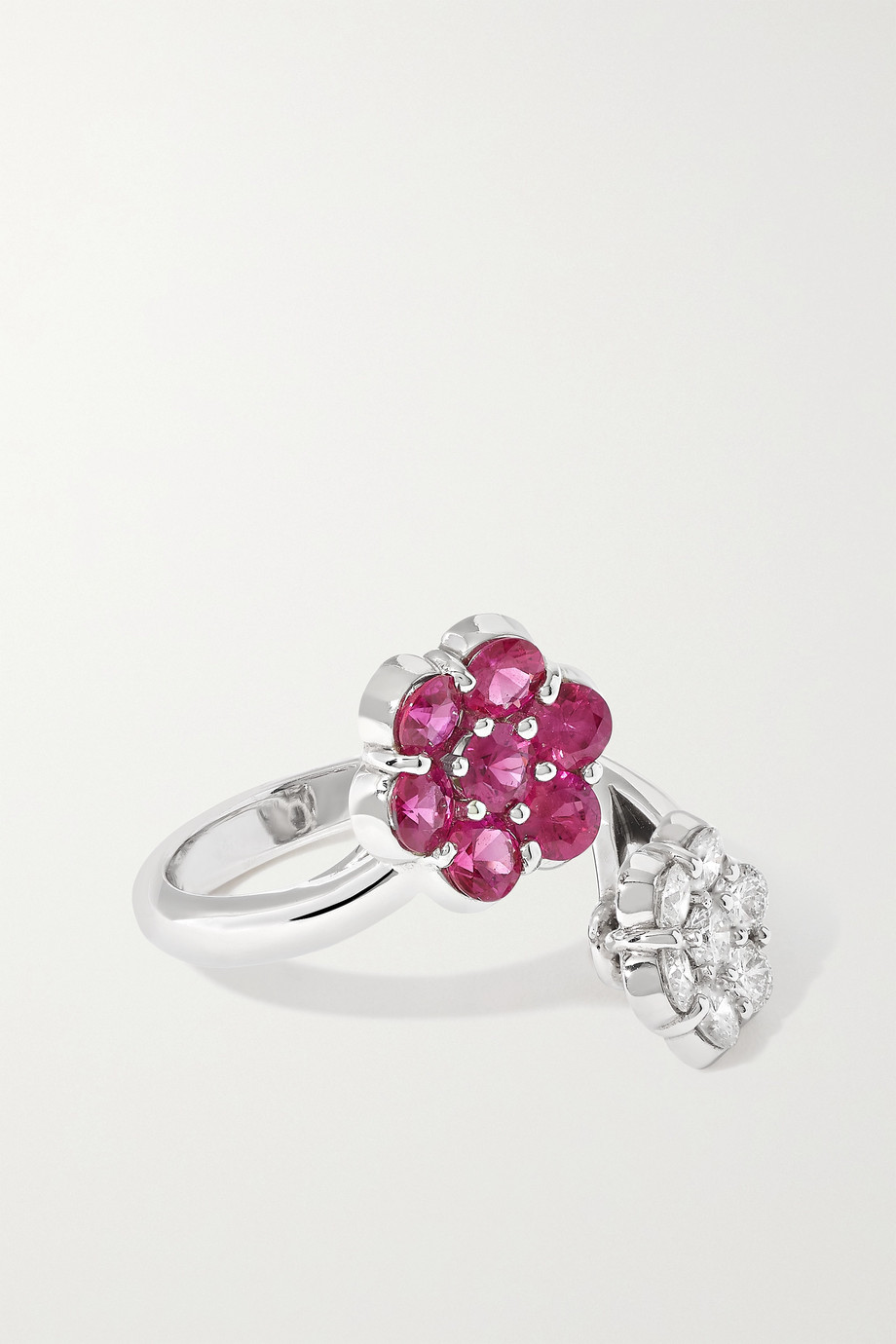 BAYCO Platinum, ruby and diamond ring