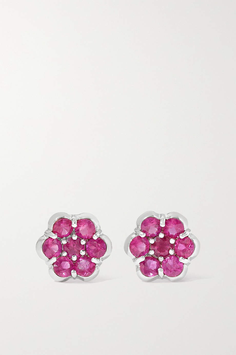 BAYCO Platinum ruby earrings