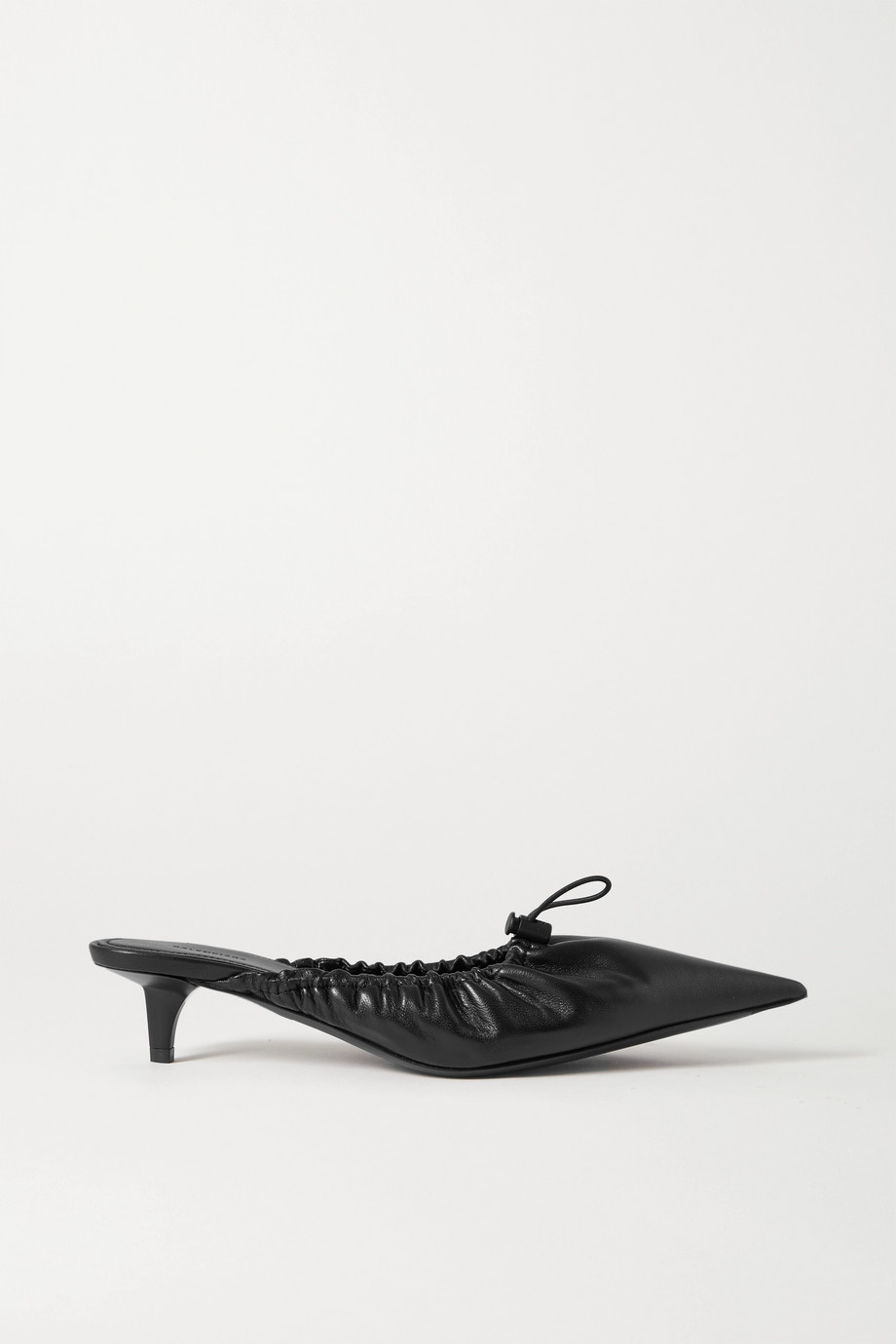 BALENCIAGA Scrunch Knife ruched leather mules