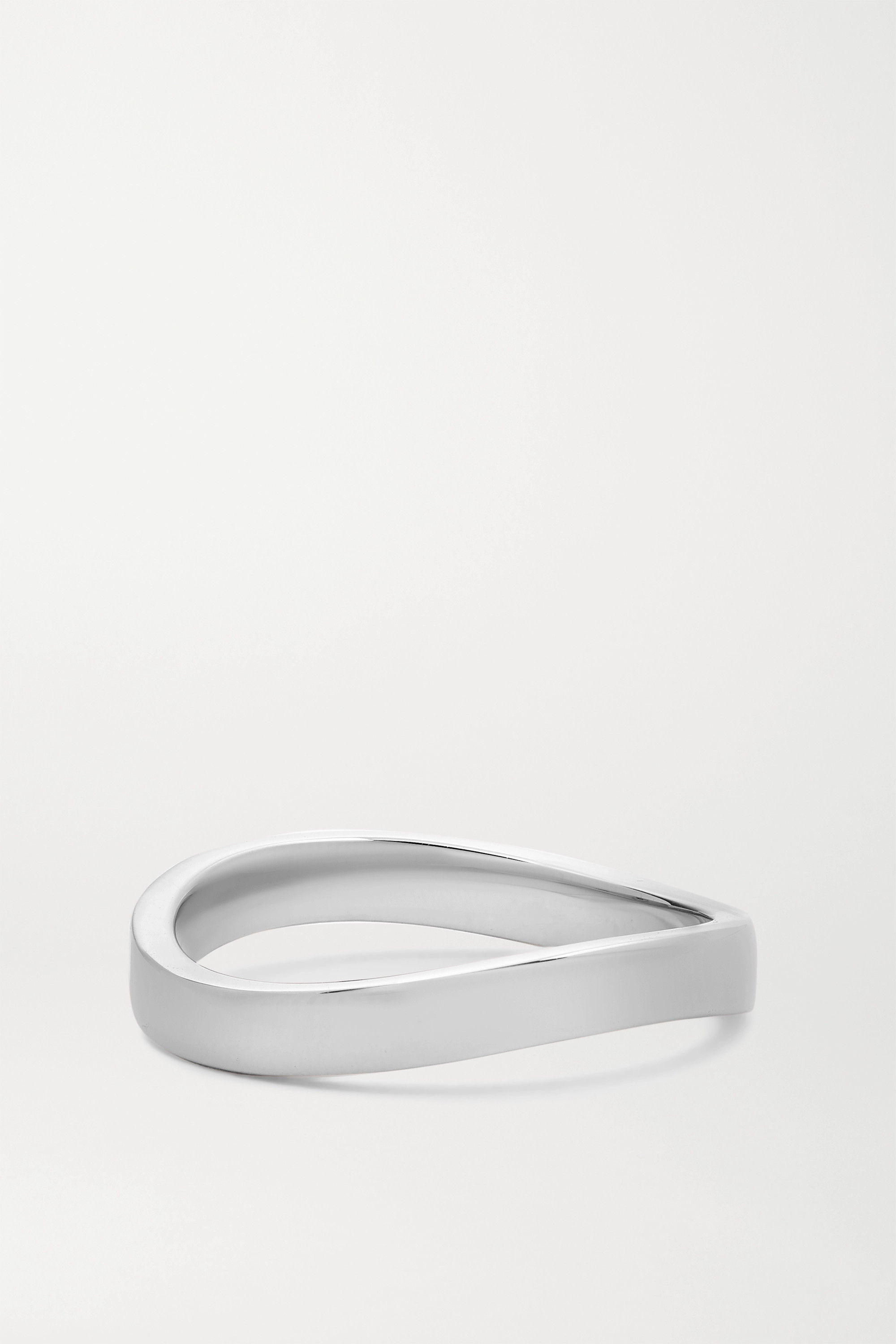ANITA KO Curved 18-karat white gold ring