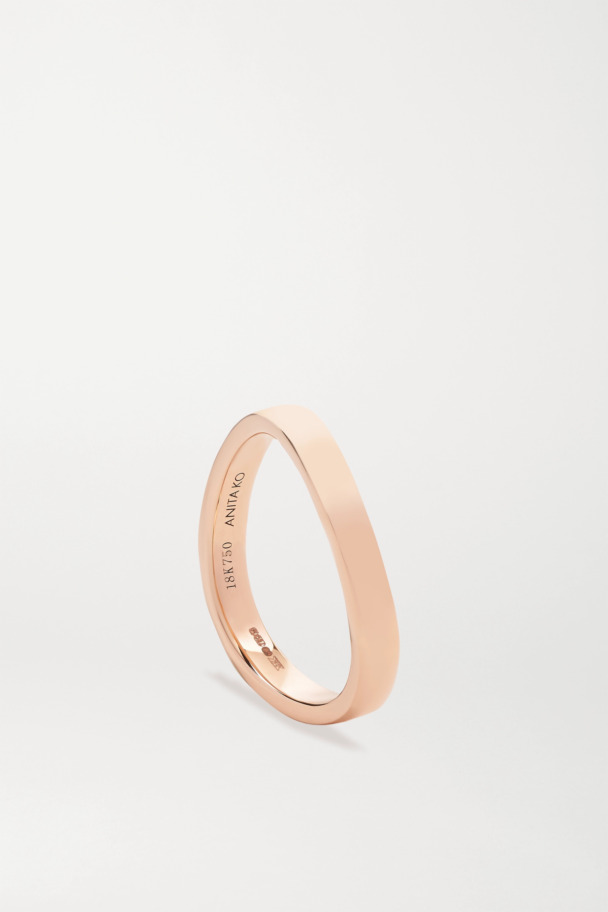 ANITA KO Curved 18-karat rose gold ring