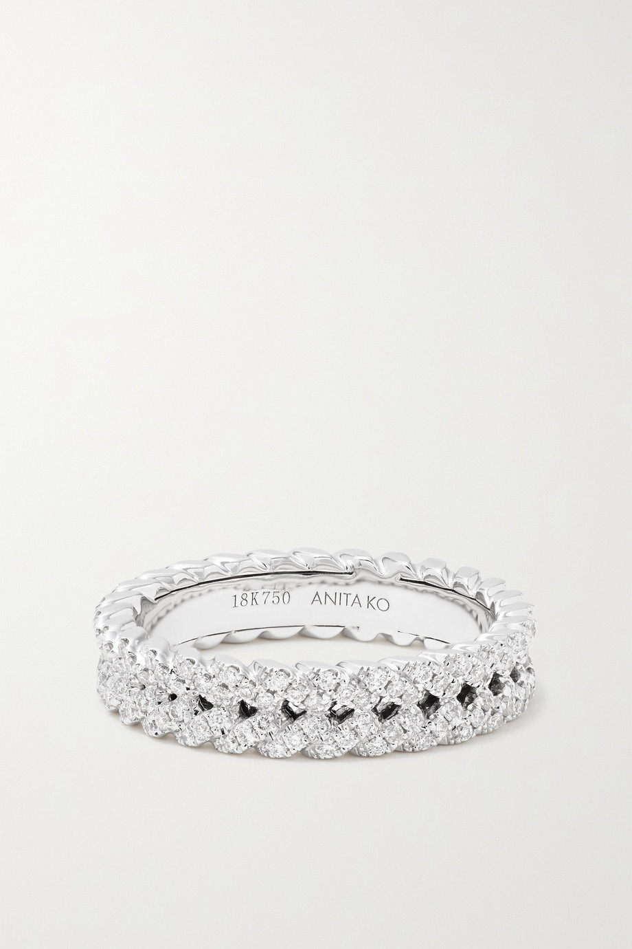 ANITA KO 18-karat white gold diamond ring