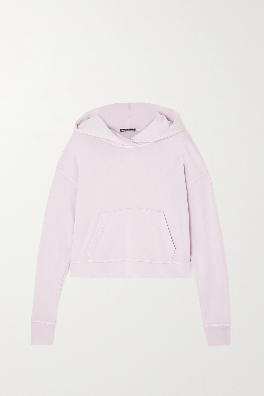 JAMES PERSE Cropped Supima cotton-terry hoodie
