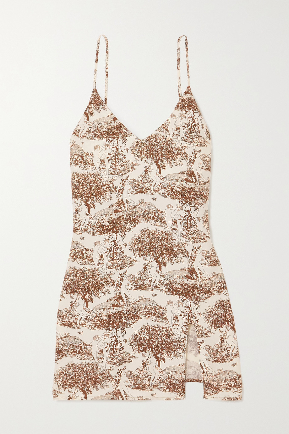 REFORMATION + NET SUSTAIN Marlowe printed crepe mini dress