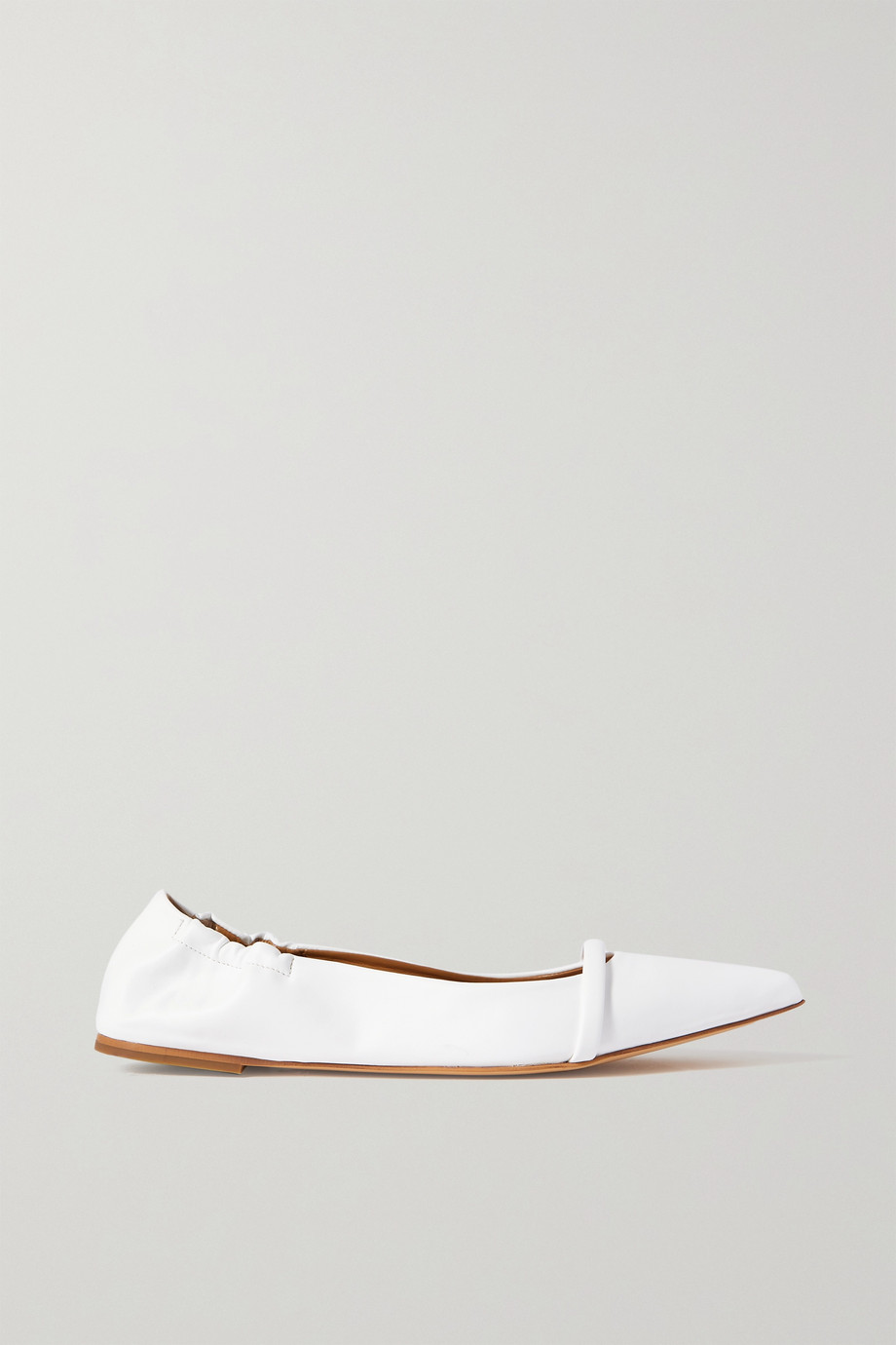 MALONE SOULIERS Raya vegan leather point-toe flats