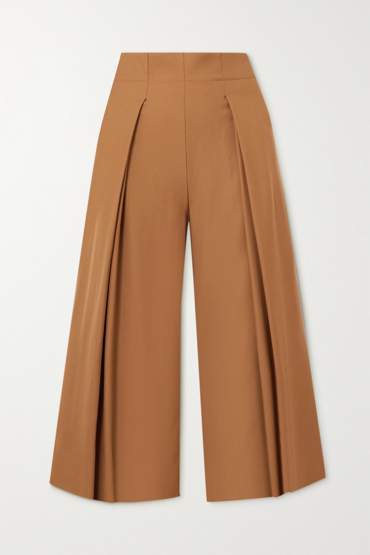 YOOX NET-A-PORTER FOR THE PRINCE'S FOUNDATION - 褶裥美利奴羊毛裙裤 - 棕色 - IT38