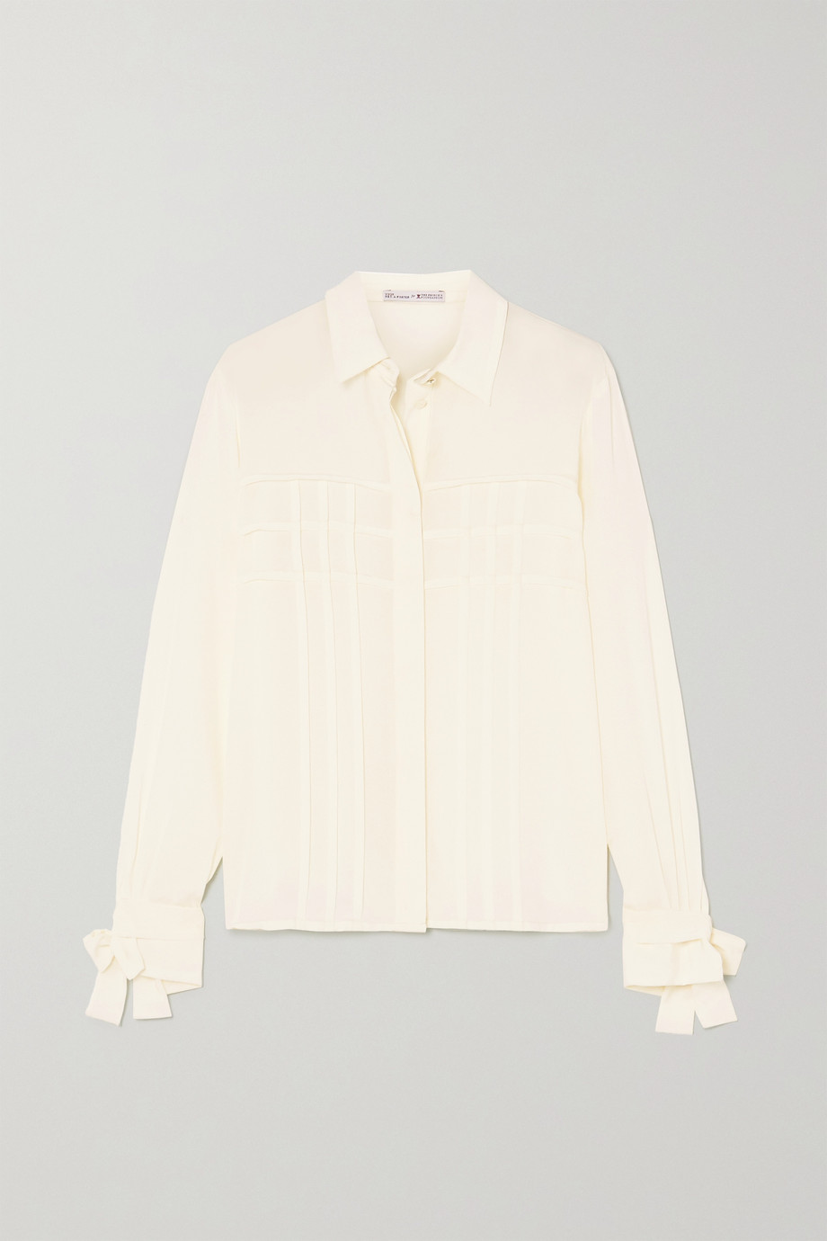 YOOX NET-A-PORTER FOR THE PRINCE'S FOUNDATION Pleated organic silk shirt