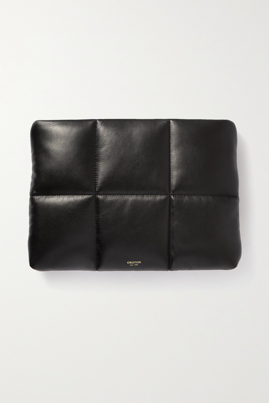 OROTON Freja large quilted leather clutch