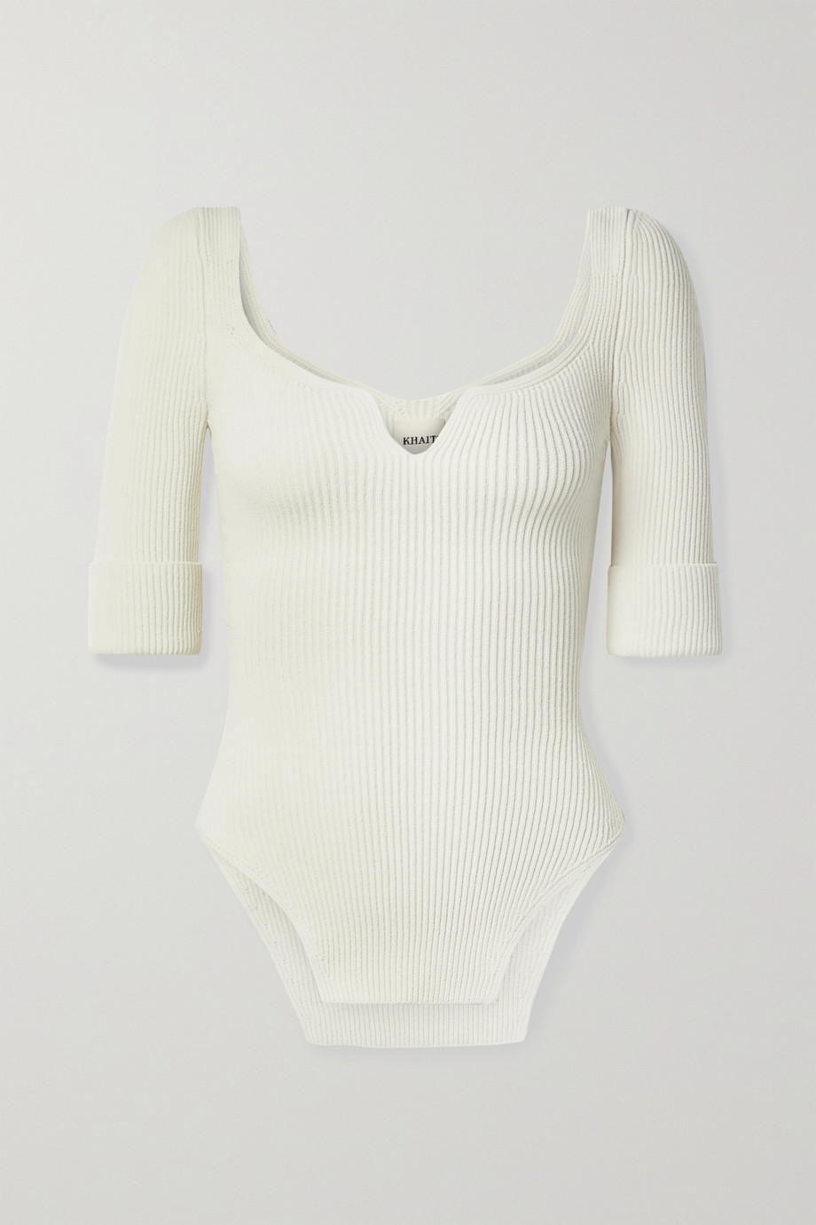 KHAITE Irina ribbed-knit top