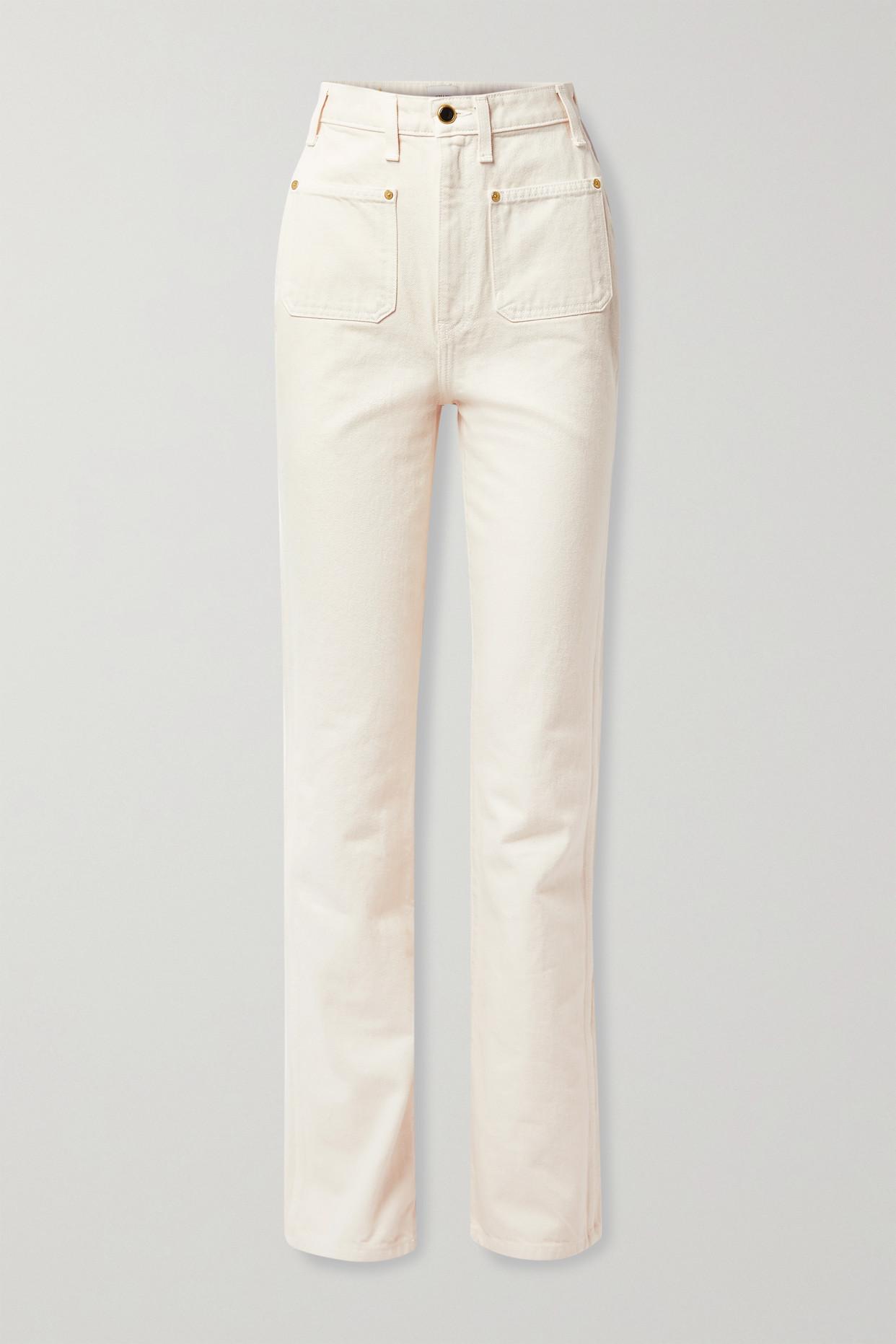 KHAITE - Isabella High-rise Straight-leg Jeans - Ivory - 29