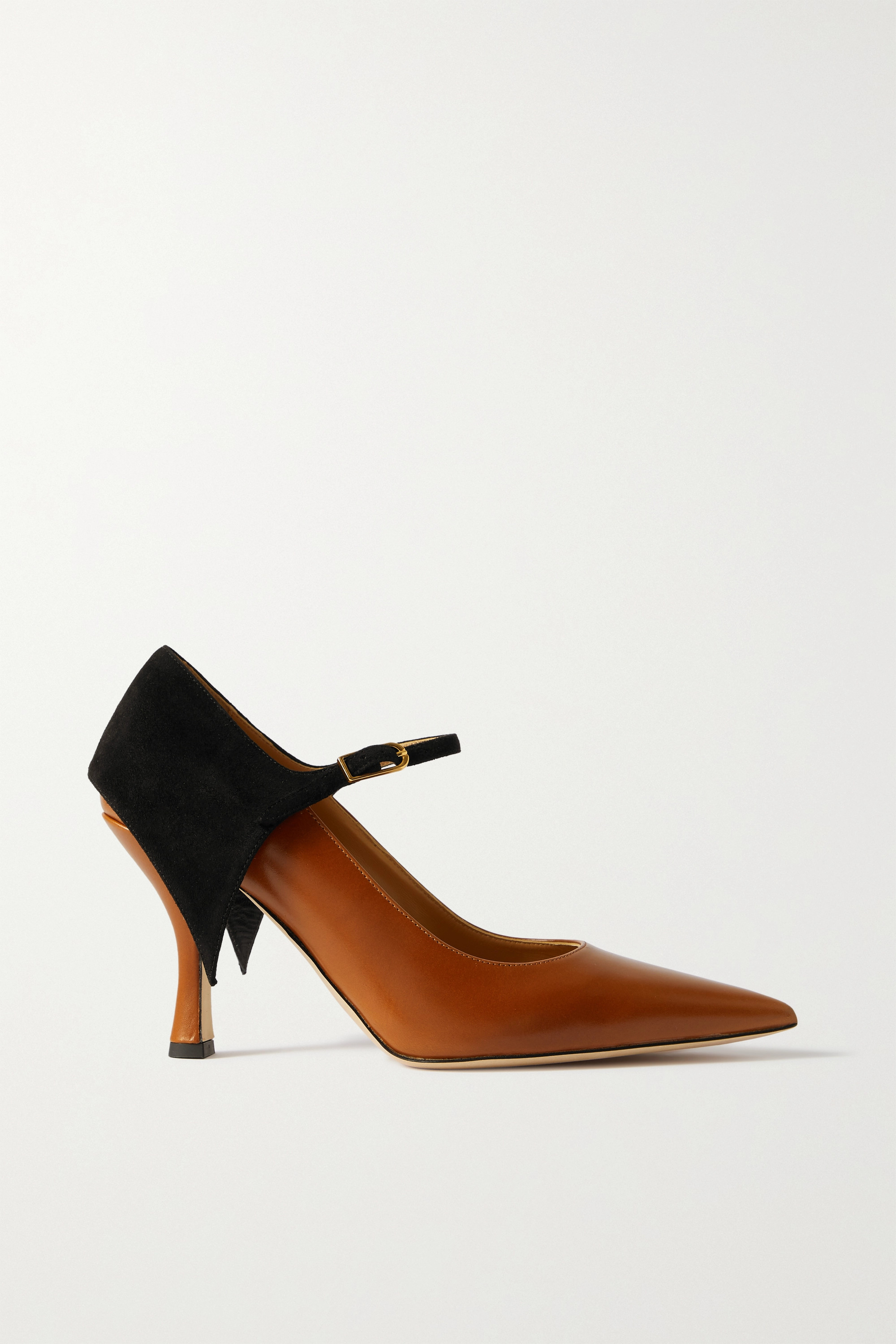 LOEWE Cape suede and leather pumps