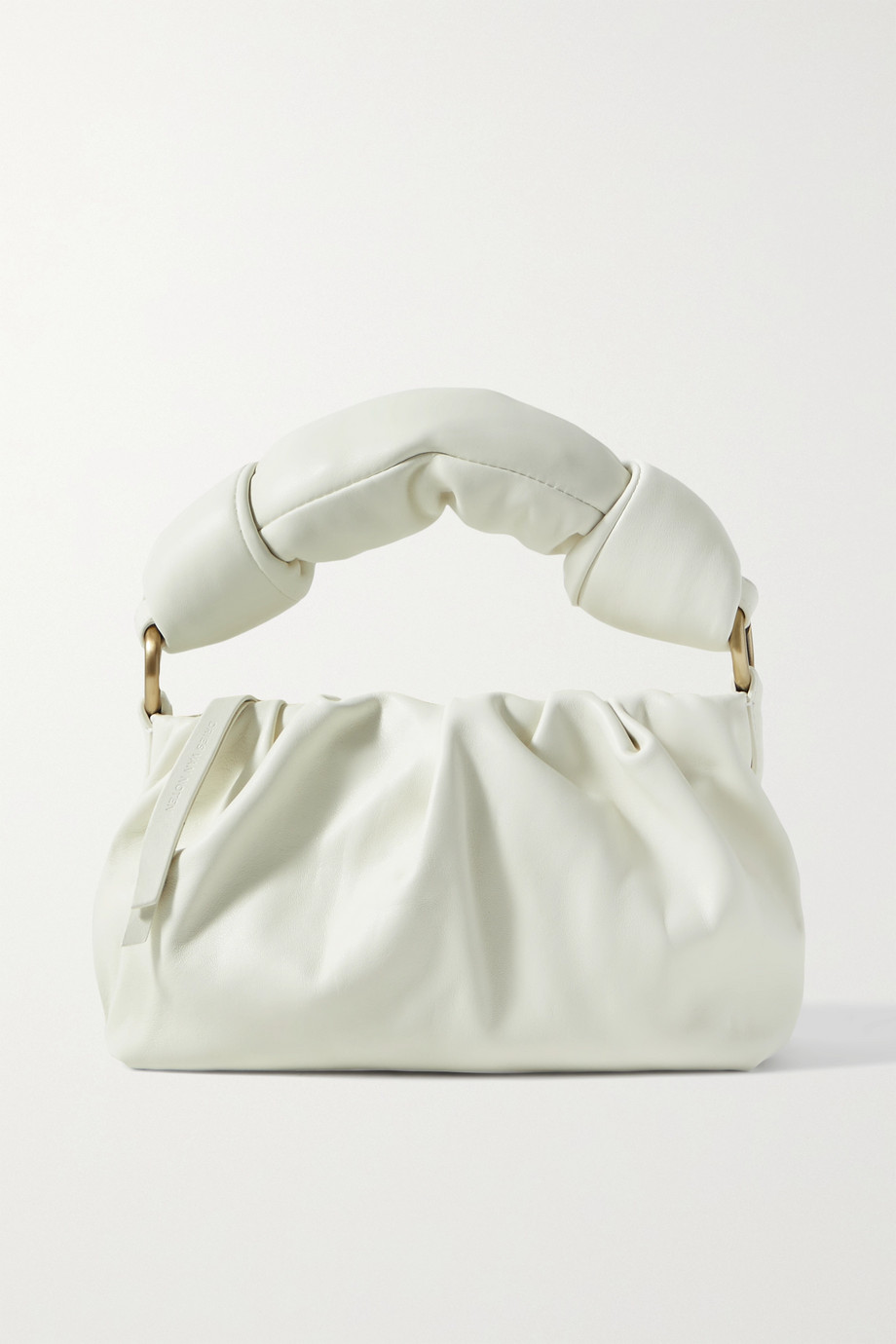 DRIES VAN NOTEN Padded gathered leather tote