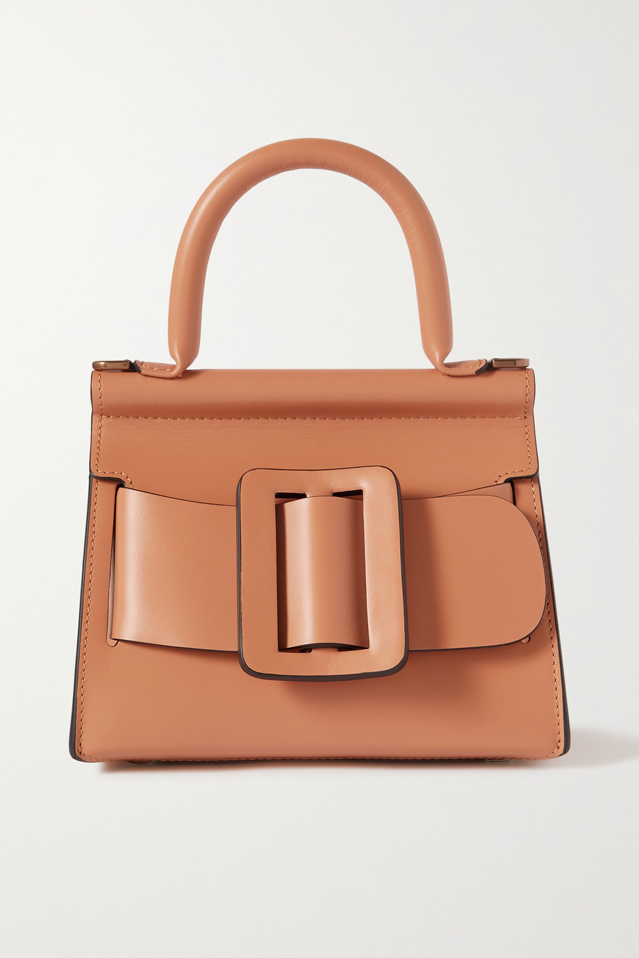 BOYY Karl 19 mini buckled leather tote,Brown