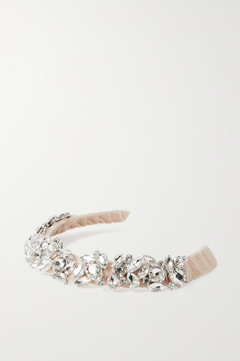 LELET NY Rock Candy crystal-embellished velvet headband