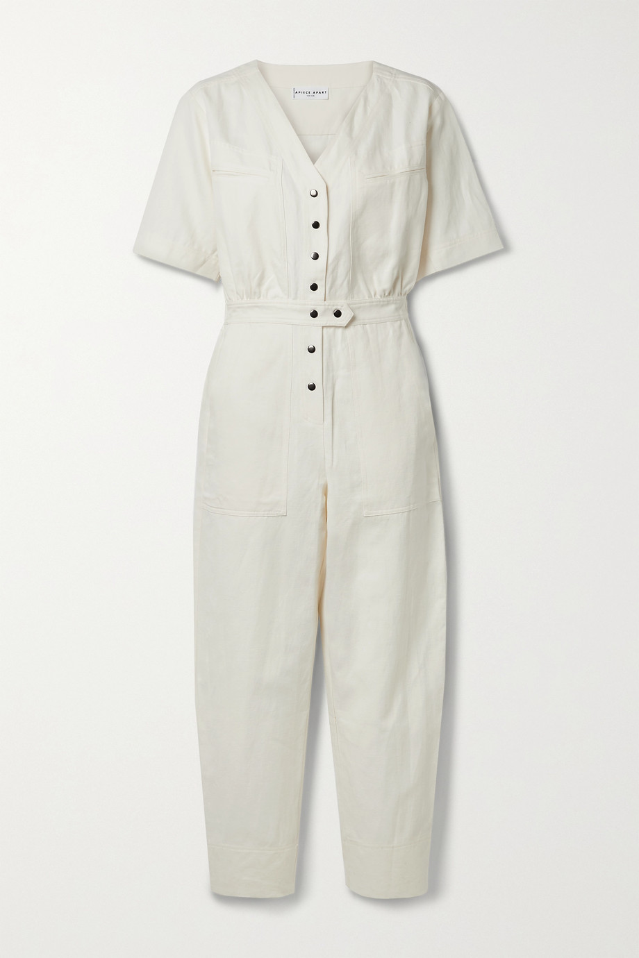 APIECE APART Zeolight linen and cotton-blend twill jumpsuit