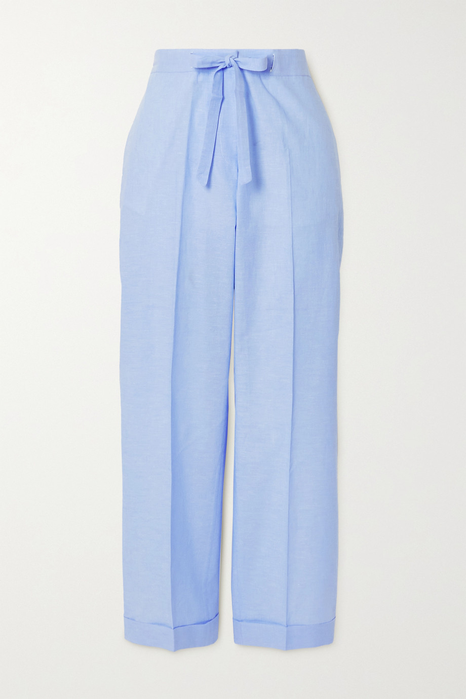OFFICINE GÉNÉRALE Miranda cotton and linen-blend straight-leg pants