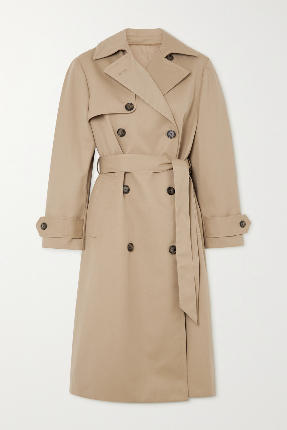 OFFICINE GÉNÉRALE Amy belted double-breasted gabardine trench coat