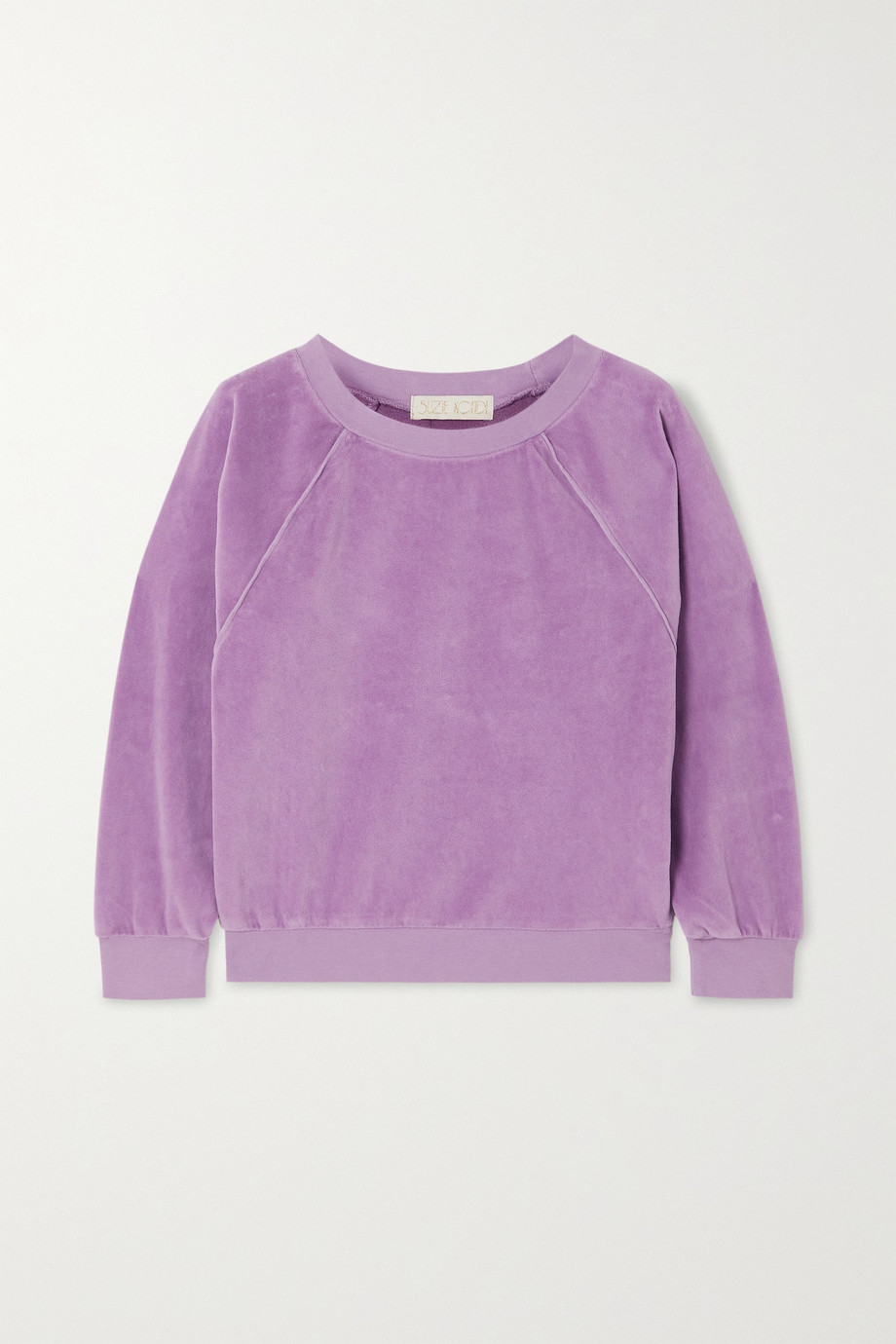 SUZIE KONDI Cotton-blend velour sweatshirt
