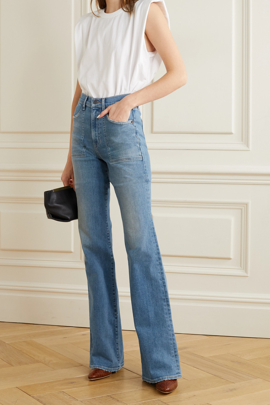 VERONICA BEARD Crosbie high-rise flared jeans